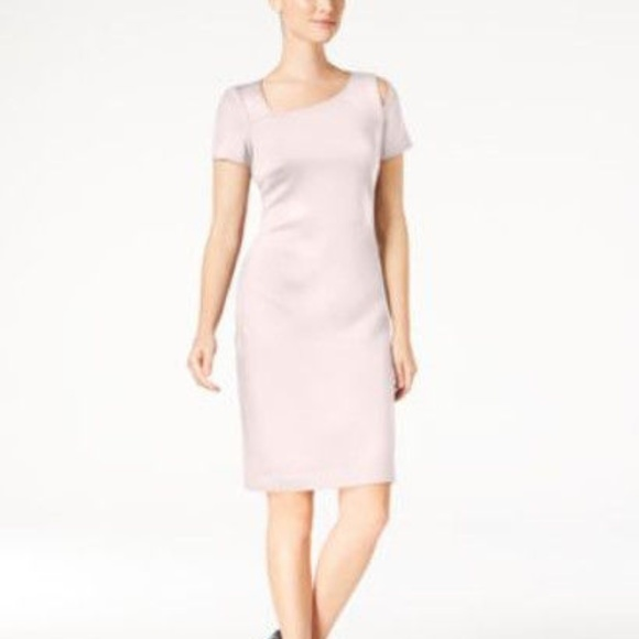 Calvin Klein Dresses & Skirts - Calvin Klein Scuba Sheath Dress Blush